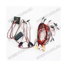 G.T. POWER RC автомобильная система освещения с контролером / имитация / проблесковый маячок.  Система 5 LED для 1/4 1/8 1/16 моделей автомобилей.