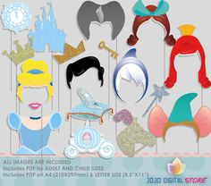 SALE Castle Princess Party Photo Booth Props