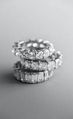 Diamond eternity rings, because one can never have too much #bling