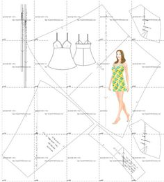 garment pattern (already put together, the available plotters print)