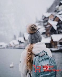 Snow with KANKEN BACKPACK #backpack #winter #lovely #cold