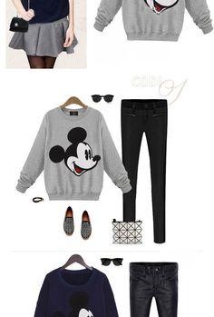 e9c67f487eb9 2016 nové módne Ženy Cartoon Mouse Tlačené mikina s kapucňou Mikiny s  kapucňou Tepláky sveter topy