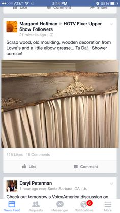 Unique uses for shower cornice