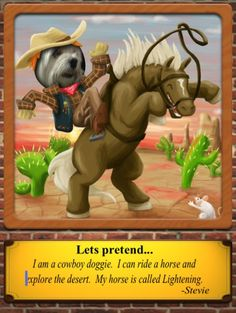 """in """"Pretend"""" kids fill the hole of carnival poster to photo, describe, & send ideas about cowboy, superhero + https://itunes.apple.com/us/app/pretend-kids-storytelling/id635299922?mt=8&ign-mpt=uo%3D4"""