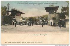 TORINO - PRIMA ESPOSIZIONE INTERNAZIONALE DI ARTE DECORATIVA MODERNA - 1902. INGRESSO PRINCIPALE. CARTOLINA PRIMI '900