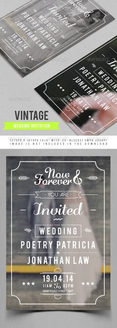 Vintage Wedding Invitation PSD Templates | More Info: http://graphicriver.net/item/vintage-wedding-invitation/7417731?WT.ac=category_thumb&WT.z_author=maulanacreative&ref=ksioks