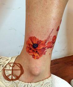 17 Watercolor Poppy