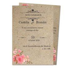 invitaciones de boda rosas vintage
