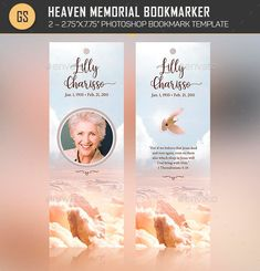 Buy Heaven Memorial Bookmarker Template By On GraphicRiver Is Designed For Or Funeral Services