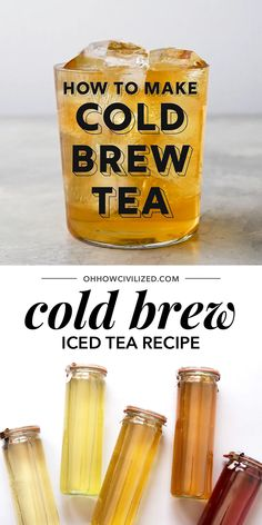 The secret to the perfect iced tea is to cold brew it. Step-by-step directions on how to cold brew tea at home that's simple and easy. How to make the best iced tea -- cold brew it! Best Iced Tea Recipe, Iced Tea Recipes, Coffee Recipes, Vegan Tea Recipes, Iced Black Tea Recipe, Drink Recipes, Kombucha, Snacks Für Die Party, Masala Chai
