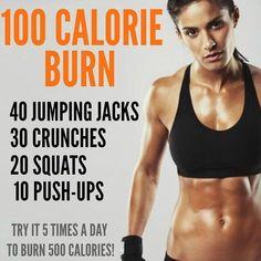 100 cal burn