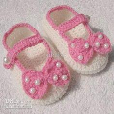 Zapatos a crochet de niña - Imagui
