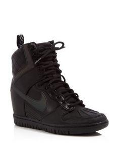 Nike Dunk Sky Hi Lace Up High Top Wedge Sneakers   Bloomingdale's