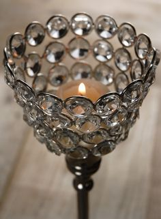 """Crystal Candle Holders 10"""" Pedestal Candle Holders $14 each / 2 for $13.50 each Save On Crafts, Crystal Decor, Pedestal, Special Events, Favors, How To Memorize Things, Candle Holders, Wedding Inspiration, Candles"""