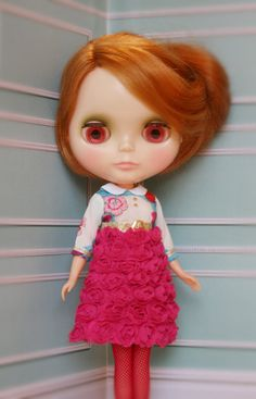 Blythe Magenta Rosebud Dress by lounginglinda on Etsy