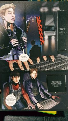 Exo the power of music full comic Sistema Solar, Exo Fan Art, The Power Of Music, War Comics, Love My Boys, Bts Drawings, Comic Page, Comic Strips, Celebrity Photos