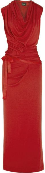 VIVIENNE WESTWOOD ANGLOMANIA Wednesday Draped Crepejersey Maxi Dress - Lyst
