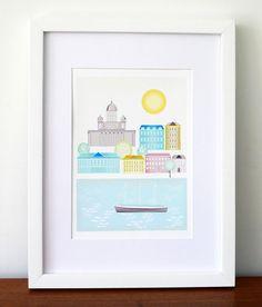 Helsinki Finland. Giclee Cityscape Art Print by lauraamiss on Etsy, €10.00