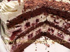 Schwarzwaldský višňový dort – Maminčiny recepty Velvet Cake, Red Velvet, Tiramisu, Food And Drink, Baking, Ethnic Recipes, Sweet, Anna, Cakes