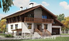 420-001-R Three Story House Plans with mansard with garage in front, luxury House Building