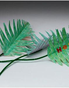 Palm Sunday   Elementary Art - textures, cutting, folding, colouring, glueing