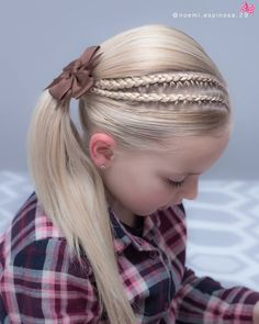 hottest screen 160 Braids Hairstyle Ideas for Little Kids : Many seriously sweet young children braid kinds is, There s no doubt that, your This particular language braid often seems to be sweet about youngster. Young Girls Hairstyles, Girls Hairdos, Cute Hairstyles For Teens, Flower Girl Hairstyles, Pretty Hairstyles, Hairstyle Ideas, Easy Hairstyles, Hairstyles 2018, Cool Braids