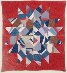 Stella Rubin Antique Quilts and Decorative Arts Cute Quilts, Old Quilts, Antique Quilts, Star Quilts, Easy Quilts, Vintage Quilts, Quilt Block Patterns, Quilt Blocks, Star Blocks