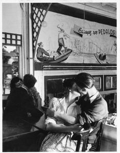"""frenchvintagegallery: """" Lovers, Paris, 1945 by Robert Doisneau """""""