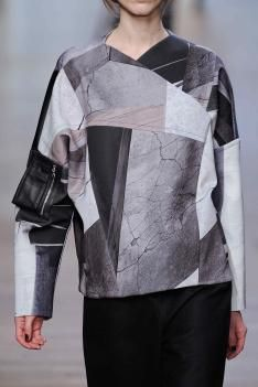 [1/4/14] Yigal Azrouël autumn/winter 2014/15, love the collaged gradients with image.