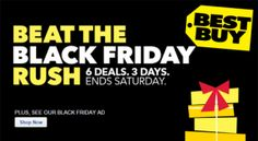 Best Buy Beat the Black Friday Rush Sale – Starts Today!