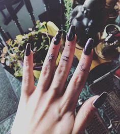 Finger tats via Natasha