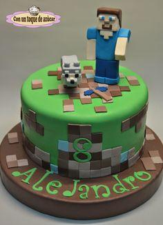 Con un toque de azúcar: MIS TARTAS DECORADAS Minecraft Torte, Minecraft Birthday Cake, 6th Birthday Cakes, Pastel Minecraft, Computer Cake, Decoration Patisserie, Sunflower Cakes, Cupcake Flavors, Cakes For Boys