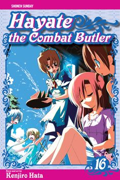 Hayate 16 • Hayate the Combat Butler by Kenjiro Hata (Hayate no Gotoku) Manga Covers Viz English Version Manga Covers, Butler, English, Anime, Art, Art Background, Kunst, Cartoon Movies, English Language