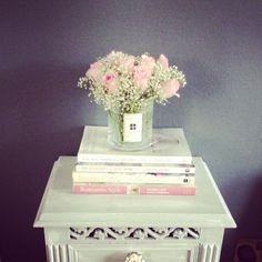 Baby's Breath  Pink Roses Shabby Chic Style