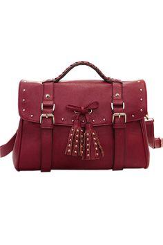 Bowknot Tasseled Shoulder Bag