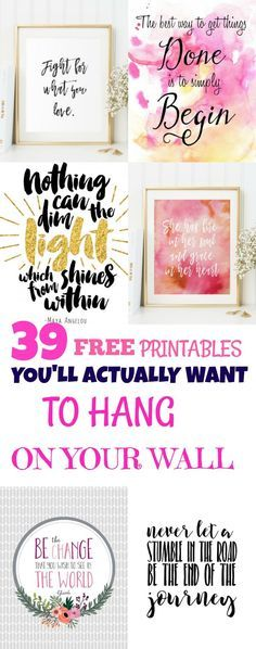 Free Printables You'll Actually Want To Hang On Your Wall These free printables are too cute!These free printables are too cute! Free Prints, Wall Prints, Paper Crafts, Diy Crafts, Inspiration Wall, Printable Wall Art, Planer, Free Printables, Free Printable Quotes