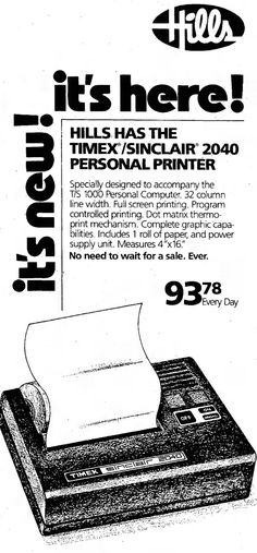 Had one of these as our first computer back in the day. It