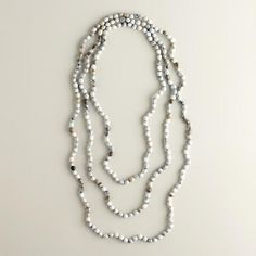 One of my favorite discoveries at WorldMarket.com: Three-Strand Swazi Bead Necklace