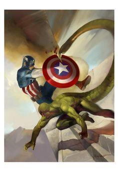 Captain America vs Scorpion  JOSEP BAIXAULI