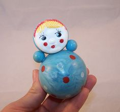 Vintage Soviet Roly Poly Doll. Nevaliashka. USSR by RarityFromAfar, $19.49