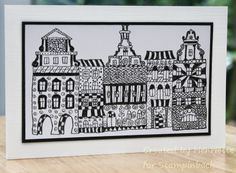 STAMPINBACK.NL : Huisjes Kit, Buildings, Stamps, Cards, Home Decor, Sketches, Seals, Decoration Home, Stamping