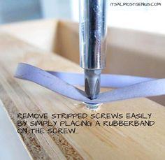 Remove Stripped Screws ..