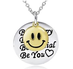 925 Sterling Silver Pendant Necklace for Women Be Happy, Be True, Be Special, Be You Heart Smile Face Charm - amdxd - 1 Silver Bracelets, Sterling Silver Necklaces, Silver Earrings, Silver Ring, Bangles, Cheap Necklaces, Jewelry Necklaces, Gold Jewellery, Silver Engagement Rings