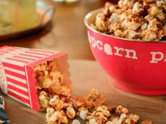 """S'mores Popcorn (Quick and Easy Movie Night) - Valerie Bertinelli, """"Valerie's Home Cooking"""" on the Food Network. Popcorn Recipes, Snack Recipes, Dessert Recipes, Dessert Ideas, Slow Cooker Recipes, Cooking Recipes, Cooking Food, Valerie Bertinelli, Decadent Cakes"""