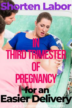 Ways to shorten labor in your third trimester of pregnancy so that you have a faster and easier delivery. Tips on what to eat and exercises to do to prepare your body for giving birth. Every mom needs to do these to make labor a better experience. Happy Pregnancy, Second Pregnancy, Trimesters Of Pregnancy, Pregnancy Tips, Pregnancy Belly, Baby Registry Must Haves, Baby Must Haves, Baby Gender Prediction, Prepare For Labor