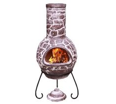 Cantera Clay Mexican Chiminea - Reddish Brown, only £99.99