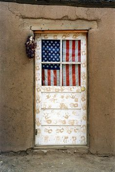 A doorway in a home on the Taos Pueblo in Taos, New Mexico