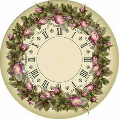 ZOOYA Hot Saleing Diy Diamond Painting Rhinestones Mosaic Kit Sets Round Diy Diamond Painting Clock And Flower Paper Clock, Clock Art, Diy Clock, Vintage Diy, Vintage Floral, Clock Printable, Craft Projects, Projects To Try, Cool Clocks
