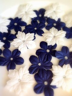 Navy Blue Wedding Decorations Table by KarasVineyardWedding, $20.00