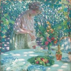 Tea In The Garden - (Louis Ritman)